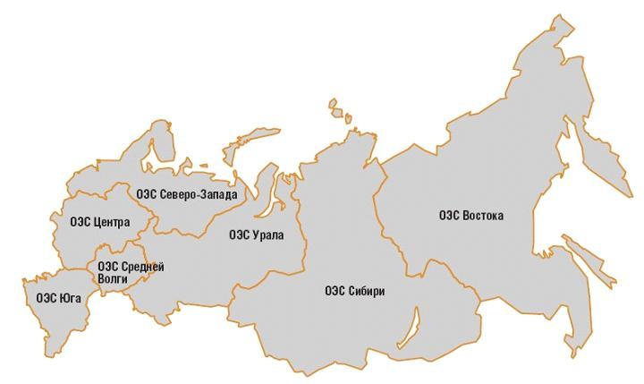Рис. 1.7. Схема расположения СО на территории России